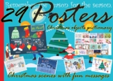 Christmas Posters Bundle: Objects, Scenery and Messages (2