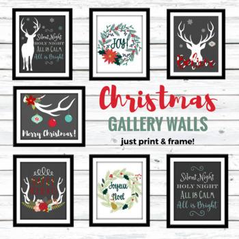 Christmas Gallery Wall Printables - Deer Christmas!