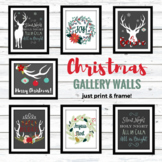 Christmas Gallery Wall Printables - Deer Christmas!