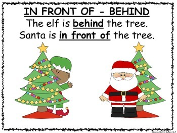 Christmas Posters and Power Point for Positional Terms