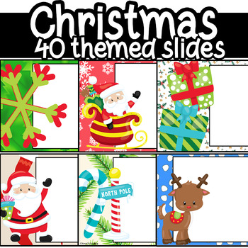 Christmas PowerPoint Editable 40 Slides