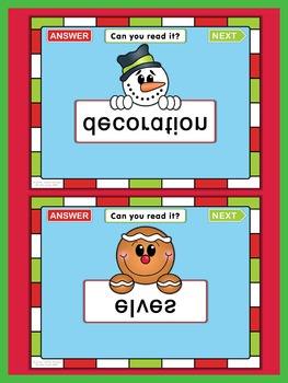 Christmas PowerPoint Game  Can you read it?