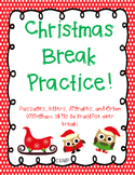 Christmas Practice Packet- Orton Gillingham Inspired