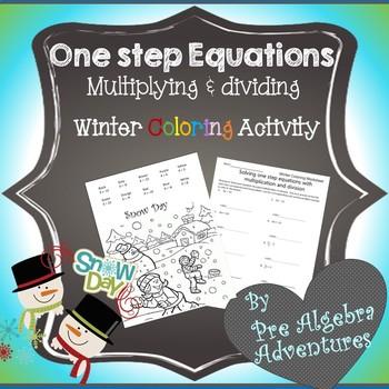 Christmas Pre-Algebra Math Activity {One Step Equations} {Easy Pre-Algebra}