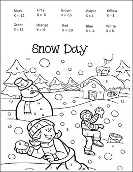 One Step Equations (Winter Math Activities) {Winter math worksheets}