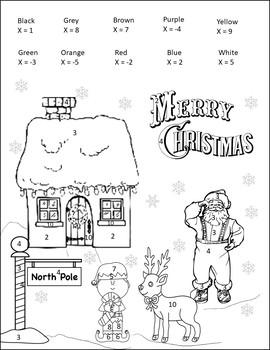 Pre-Algebra Math Christmas Activity {Pre Algebra Christmas Activity}