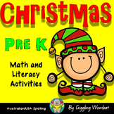 Christmas Pre K Math and Literacy Activities