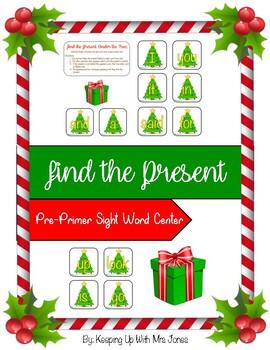 Christmas Pre-Primer Sight Word Center