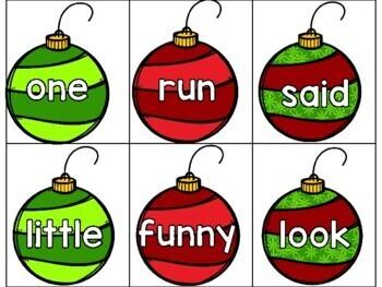 Christmas Pre-Primer Sight Word Games