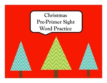 Christmas Pre-Primer Sight Word Pack