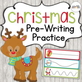 Christmas Pre-Writing Practice