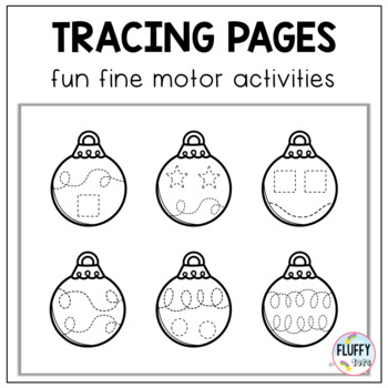 Christmas Pre-Writing Tracing : Ornaments Tracing Lines Pre-Writing Activity