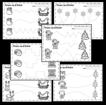 Christmas Pre-Writing Tracing Worksheets