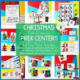Christmas PreK Math and Literacy Centers and Fine Motor Ac