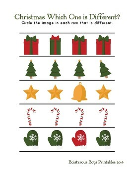 Christmas PreK Mini Printable Thematic Learning Pack