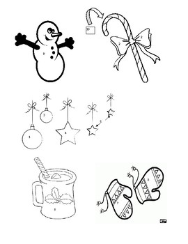 Christmas Prealgebra One-Step Equations Coloring Page
