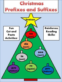 Christmas Prefixes and Suffixes