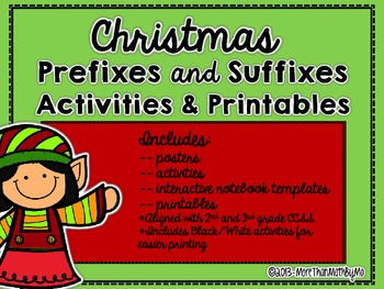 Christmas Prefixes and Suffixes Activities & Printables