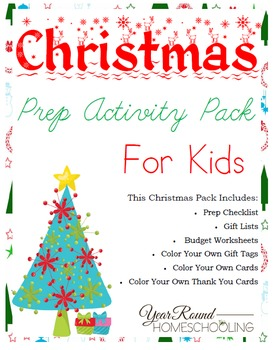 Christmas Prep Activity Pack for Kids