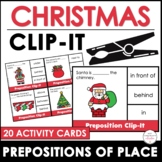 Christmas Preposition Clip Cards