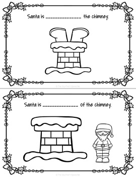 Christmas No Prep Preposition Booklet