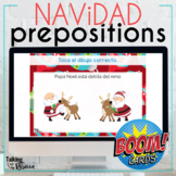 Christmas Prepositions Boom Cards for Spanish Speech Therapy