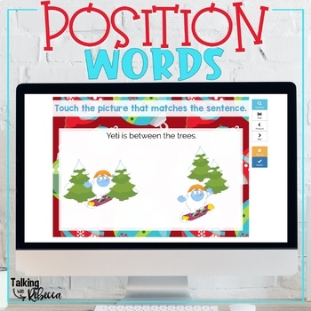Christmas Prepositions Boom Cards for Speech Therapy