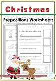 Christmas Prepositions Worksheets