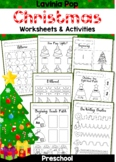 Christmas Preschool No Prep Worksheets and Activities