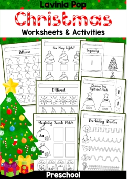 Christmas Preschool.Christmas Preschool No Prep Worksheets And Activities