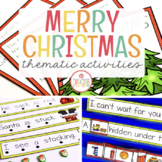 CHRISTMAS THEME ACTIVITIES FOR PRESCHOOL, PREK AND KINDERGARTEN