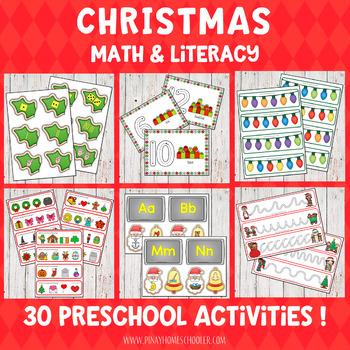 Christmas Preschool Unit - Math and Literacy Centers