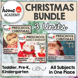 Christmas Activities for Preschool BIG BUNDLE - 3 Christmas Preschool Units