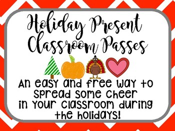Christmas Present Classroom Passes