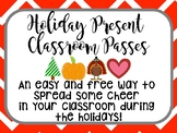 Holiday Classroom Passes (Christmas, Halloween, Thanksgiving, & Valentine's Day