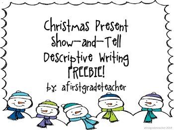 Christmas Present Descriptive Writing FREEBIE