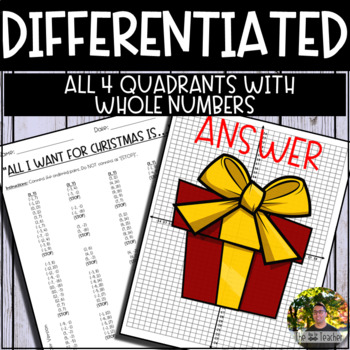 Christmas Present Graphing Mystery Picture (Coordinate Grid & Ordered Pairs)