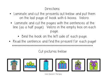 Christmas Present Interactive Book