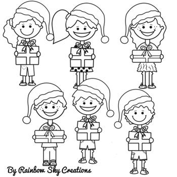 Christmas Present Kids Clipart