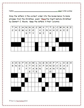 Christmas Fun - 3 present matches, 1 drop-in letter puzzle, and 3 logic puzzles