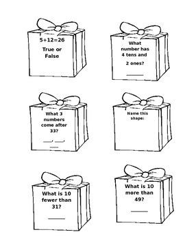 Christmas Present Math Problems