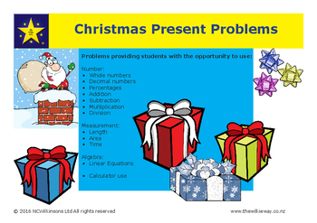 Christmas Present Mathematics Problems