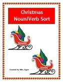 Christmas Present Noun and Verb Sort