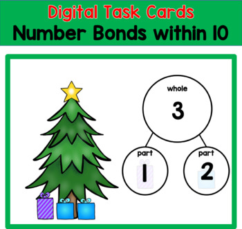 Christmas Present Number Bonds: Digital Slides for Google Classroom