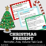 Christmas Present Perimeter, Area, and Volume Task Cards