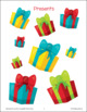 Christmas Present Size Sorting File Folder Game