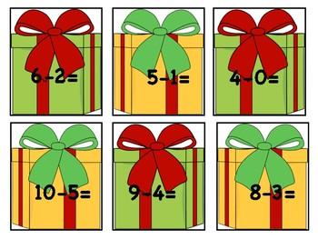Christmas Present Subtraction Match