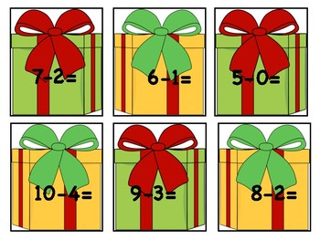 Christmas Present Subtraction Match