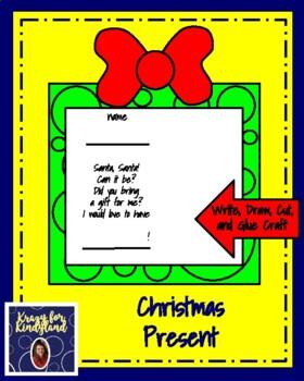 Christmas Present: Write, Draw, Cut, and Glue Craft
