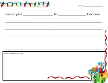 Christmas Present Writing Activity